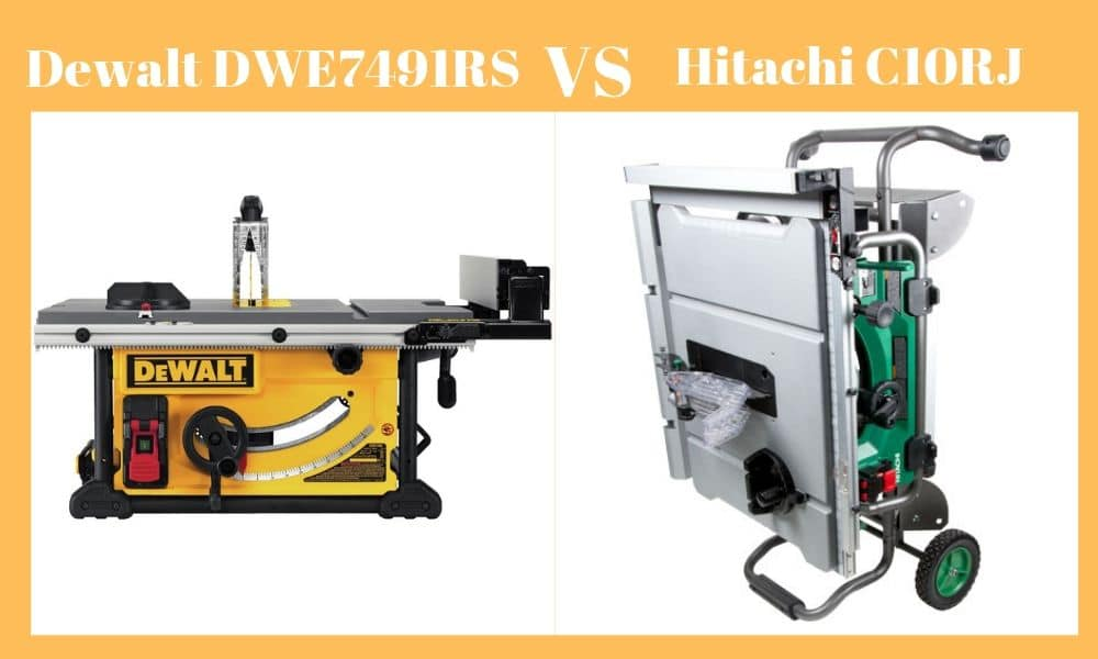 Hitachi C10RJ Vs Dewalt DWE7491RS